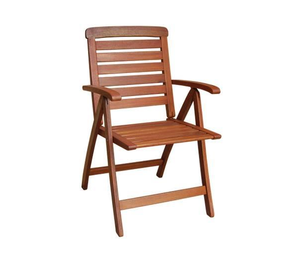 Εικόνα της Πολυθρόνα με Χαμηλή Πλάτη Πτυσσόμενη 5 θέσεων Ξύλινη GARDEN