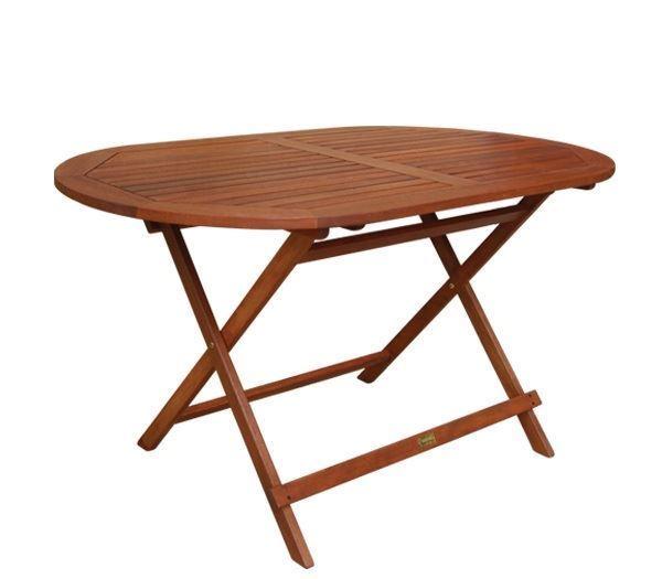 Εικόνα της Τραπέζι Πτυσσόμενο Oval Ξύλινο 120 cm, EASY-K