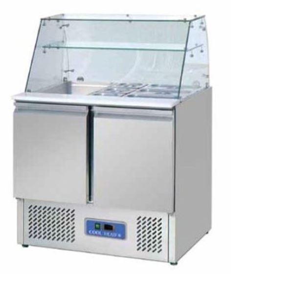 Εικόνα της Ψυγείο Βιτρίνα Σαλατών 90 cm, 240 lt
