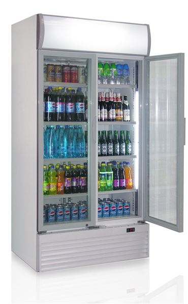 Εικόνα της Ψυγείο Βιτρίνα Αναψυκτικών Διπλό, με 2 ανοιγόμενες πόρτες 0.90 m 600 lt
