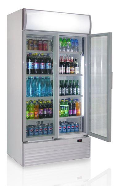 Εικόνα της Ψυγείο Βιτρίνα Αναψυκτικών Διπλό, με 2 ανοιγόμενες πόρτες 1.00 m 800 lt