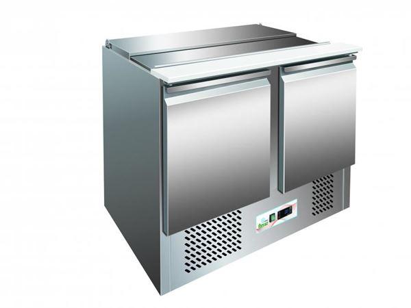 Εικόνα της Ψυγείο Πάγκος Σαλατών- Τοστ με 2 πόρτες, 104.5 cm