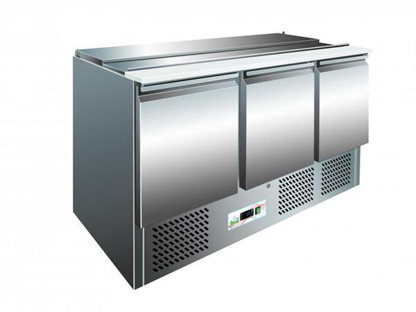 Εικόνα της Ψυγείο Πάγκος Σαλατών- Τοστ με 3 πόρτες, 136.5 cm