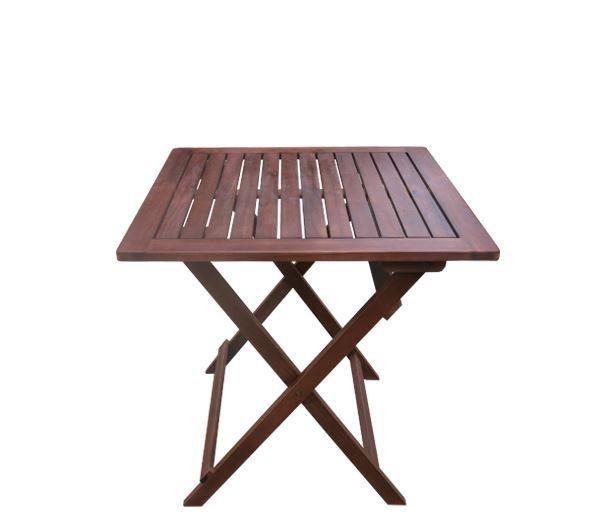 Εικόνα της Τραπέζι Πτυσσόμενο Ξύλινο 70x70, EASY