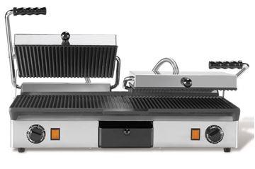 Εικόνα της Τοστιέρα Διπλή 1/2 Λεία- Ραβδωτή Πάνω και 1/2 Λεία- Ραβδωτή Κάτω, Milan Toast