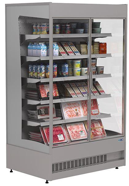 Εικόνα της Ψυγείο Βιτρίνα Self Service Συντήρηση με ανοιγόμενες πόρτες, 122 cm