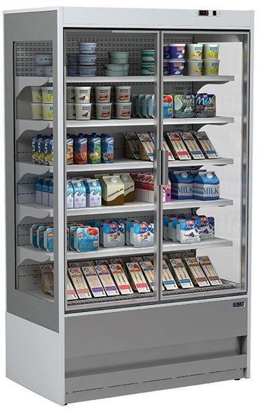 Εικόνα της Ψυγείο Self Service Συντήρηση με ανοιγόμενες πόρτες και με 5 Ράφια, 130 cm