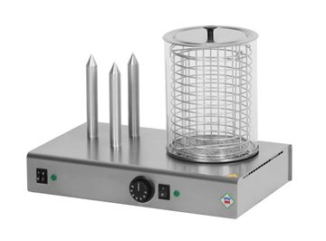 Εικόνα της Μηχανή Hot Dog με 3 Καρφιά και Βραστήρα HD03 Ν/Κ, Red Fox