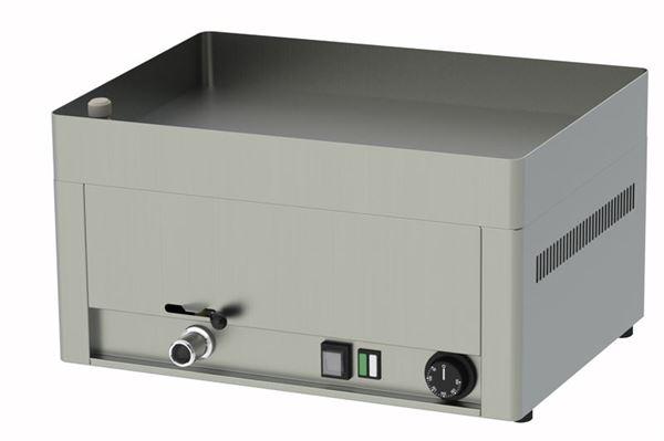 Εικόνα της Πλατώ Μπρεζέρα Ηλεκτρικό Μονό με Λεία Πλάκα  48x33 cm, Red Fox