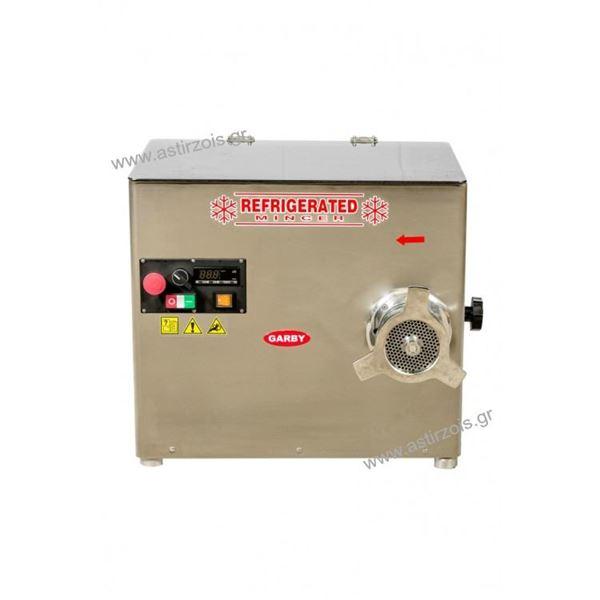 Εικόνα της Κρεατομηχανή ψυχώμενη γωνιακή, με προκόπτη, 32άρα, 3 hp, για 300 kgr/h