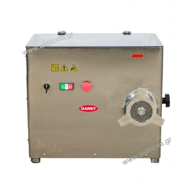 Εικόνα της Κρεατομηχανή γωνιακή με Προκόπτη, 32άρα, 3 hp, για 300 kgr/h