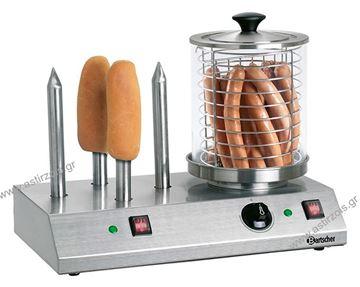 Εικόνα της Μηχανή Hot Dog με 4 καρφιά και βραστήρα, Bartscher