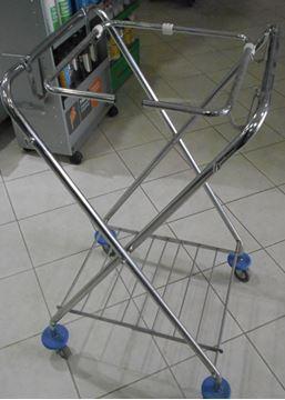 Εικόνα της Τροχήλατο καρότσι σακούλας Inox 53x55x103 cm