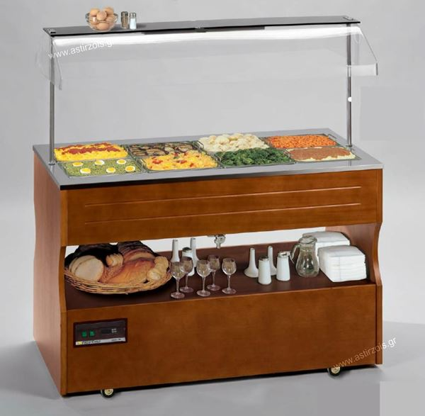 Εικόνα της Salad Bar – Μπουφές Gusto 4 BM Θερμαινόμενο