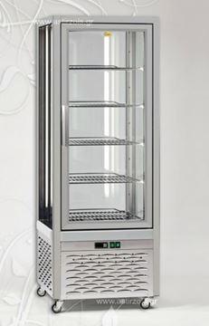 Εικόνα της Βιτρίνα Ζαχαροπλαστείου Frost Emily με 5 ράφια Ø46.5 cm, 400 lt