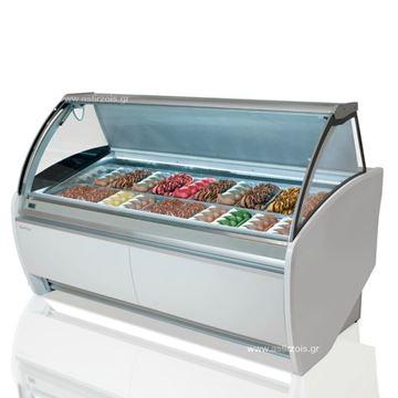 Εικόνα της Βιτρίνα Παγωτού HELADOS VAR 12H για 14 γεύσεις παγωτού, INFRICO