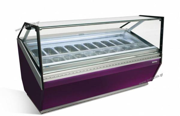 Εικόνα της Βιτρίνα Παγωτού Coral VCB18H, για 20 γεύσεις παγωτού INFRICO