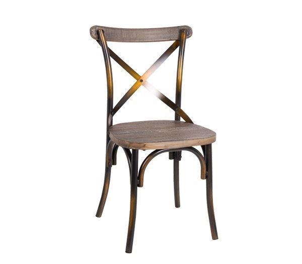 Εικόνα της Καρέκλα Destiny Wood, Black Gold Ε5189,10