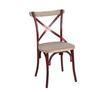 Εικόνα της Καρέκλα Destiny Wood, Antique Red Ε5189,20