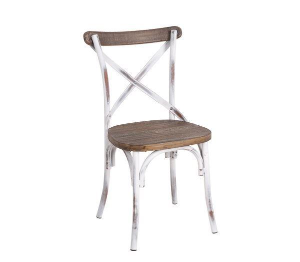 Εικόνα της Καρέκλα Destiny Wood, Antique White Ε5189,80
