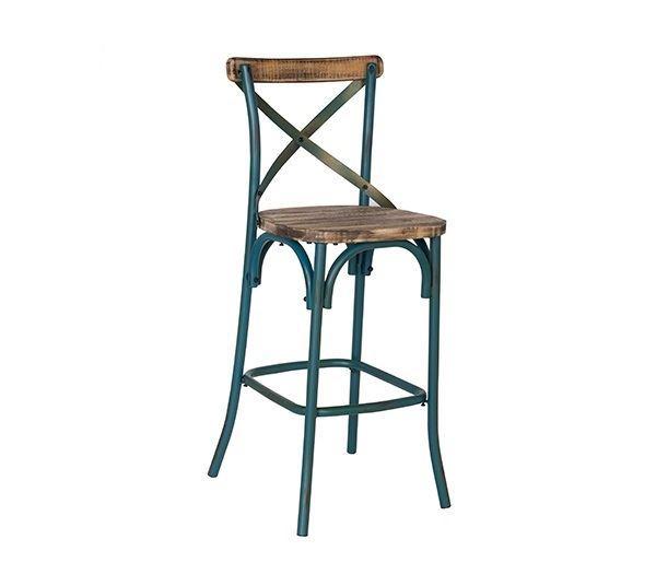 Εικόνα της Σκαμπώ Μπαρ Destiny Wood, Antique Turquoise Ε5154,70