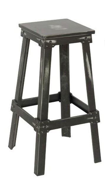 Εικόνα της Σκαμπώ Μπαρ Point, Antique Black Ε5188,10