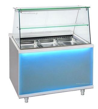 """Εικόνα της Ψυγείο Βιτρίνα Σαλατών σειρά BCF με επένδυση """"corian"""", για 4 GN 1/1"""