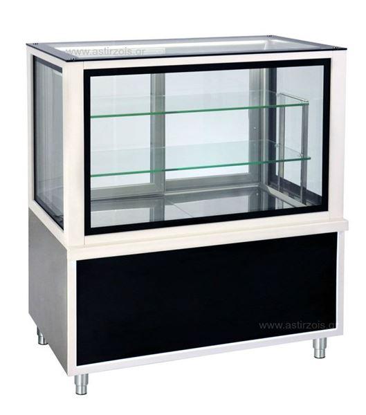 """Εικόνα της Ψυγείο Βιτρίνα Ζαχαροπλαστείου- Αρτοποιείου σειρά CDF LUX με επένδυση """"corian"""", 1.38 m"""