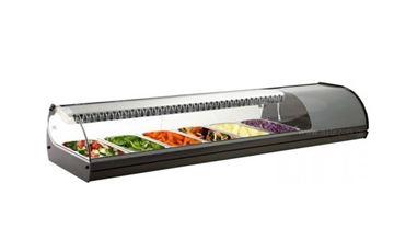 Εικόνα της Βιτρίνα ψυχόμενη επιτραπέζια Royal Sushi, για 6 GN 1/3 ασημί χρώματος