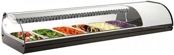 Εικόνα της Βιτρίνα ψυχόμενη επιτραπέζια Royal Sushi, για 6 GN 1/3 λευκού χρώματος