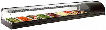 Εικόνα της Βιτρίνα ψυχόμενη επιτραπέζια Royal Sushi, για 8 GN 1/3 μαύρου χρώματος