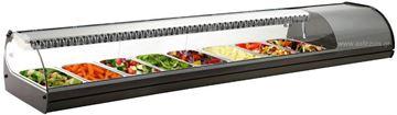 Εικόνα της Βιτρίνα ψυχόμενη επιτραπέζια Royal Sushi, για 8 GN 1/3 ασημί χρώματος