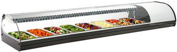 Εικόνα της Βιτρίνα ψυχόμενη επιτραπέζια Royal Sushi, για 8 GN 1/3 λευκού χρώματος