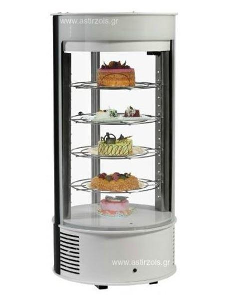 Εικόνα της Ψυγείο Βιτρίνα Ζαχαροπλαστείου λευκού χρώματος Dolce, με 4 ράφια 32,5 cm