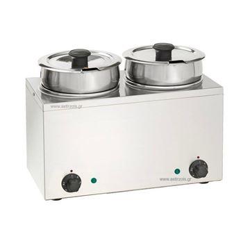 Εικόνα της Μπαιν Μαρί- Σουπιέρα Hot Pot Επιτραπέζιο Μονό, με 2 κάδους 3,5 lt
