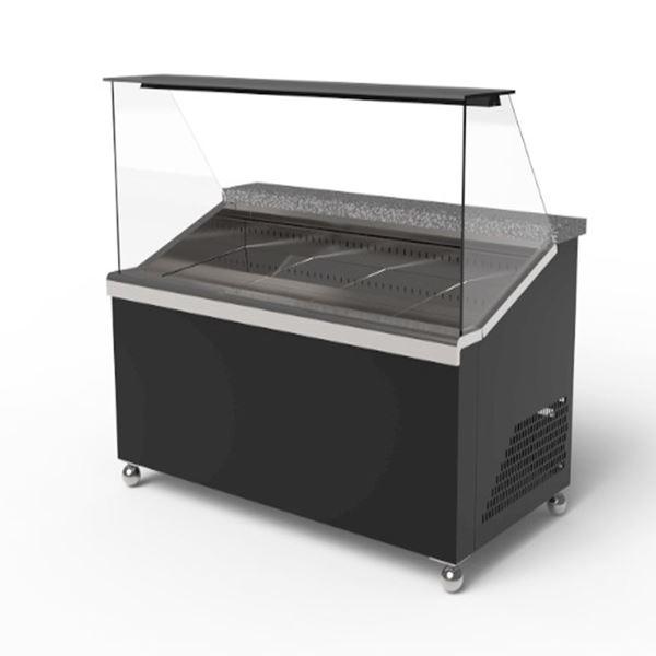 Εικόνα της Ψυγείο βιτρίνα σαλατών- τοστ Meatline, 100 cm
