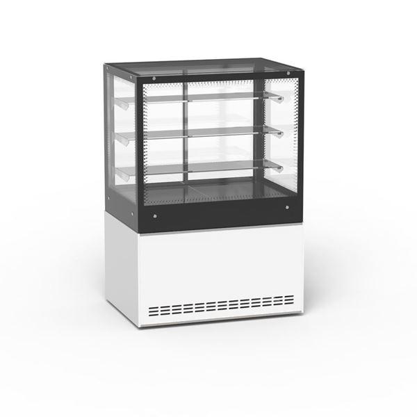 """Εικόνα της Ψυγείο βιτρίνα σνακ Venus με επένδυση """"Corian"""", 120 cm"""