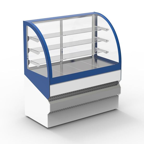 """Εικόνα της Ψυγείο βιτρίνα Ζαχαροπλαστείου """"Μελίνα"""" με 3 ράφια, 150 cm"""