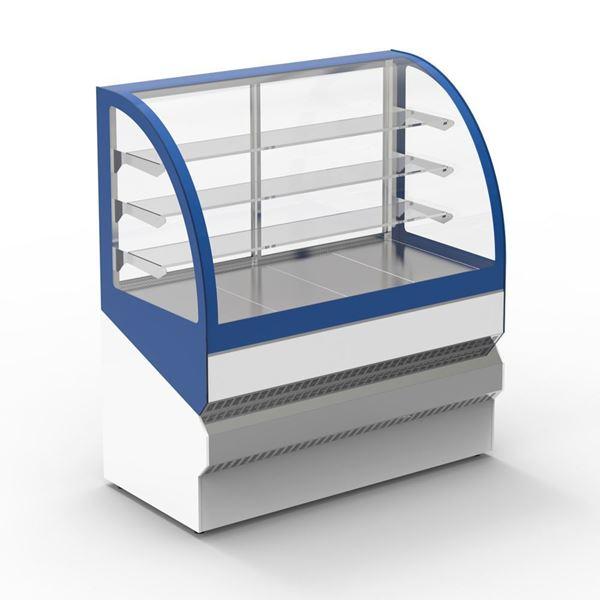 """Εικόνα της Ψυγείο βιτρίνα Ζαχαροπλαστείου """"Μελίνα"""" με 3 ράφια, 240 cm"""
