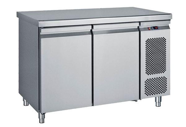 Εικόνα της Ψυγείο Πάγκος Συντήρηση με 2 πόρτες GN με Ψυκτικό Μηχάνημα, σειρά Compact 124 cm