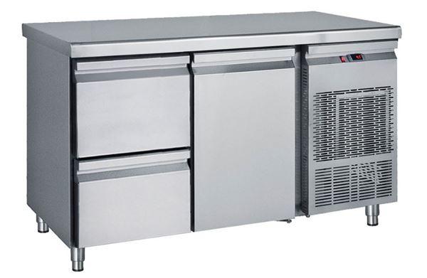 Εικόνα της Ψυγείο Πάγκος Συντήρηση με 1 πόρτα και 1 συρταριέρα GN με Ψυκτικό Μηχάνημα, 139 cm