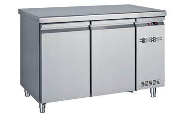 Εικόνα της Ψυγείο Πάγκος Με 2 Πόρτες GN Χωρίς Ψυκτικό Μηχάνημα 1.24 m