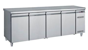 Εικόνα της Ψυγείο Πάγκος Με 4 Πόρτες GN Χωρίς Ψυκτικό Μηχάνημα 2.16 m
