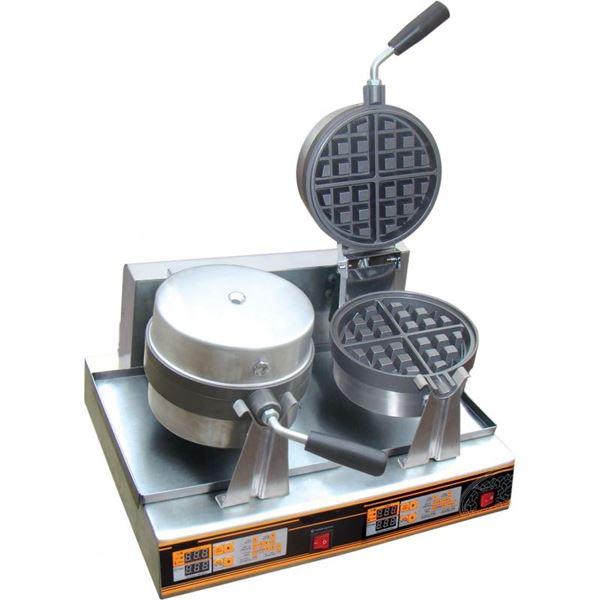 Εικόνα της Βαφλιέρα διπλή ηλεκτρική περιστρεφόμενη φ17, XG06