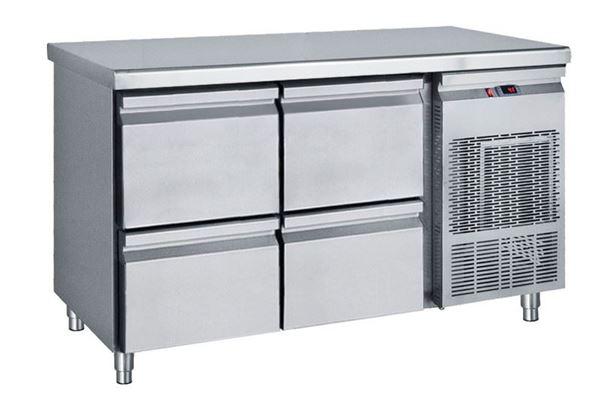 Εικόνα της Ψυγείο Πάγκος Συντήρηση με 2 συρταριέρες GN με Ψυκτικό Μηχάνημα, 139 cm