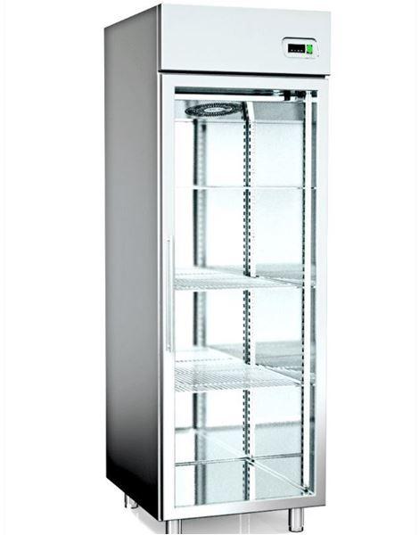 Εικόνα της Ψυγείο Θάλαμος Κατάψυξη με 1 Πόρτα με Τζάμι και Ψυκτικό Μηχάνημα, 70x81 cm