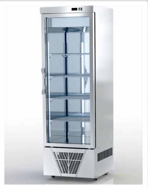 Εικόνα της Ψυγείο Θάλαμος Κατάψυξη με 1 Πόρτα με Τζάμι και Ψυκτικό Μηχάνημα Κάτω, 70x76 cm