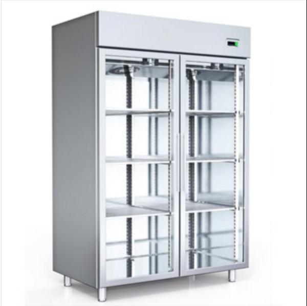 Εικόνα της Ψυγείο Θάλαμος Κατάψυξη με 2 πόρτες με Τζάμι και Ψυκτικό Μηχάνημα, 140x81 cm