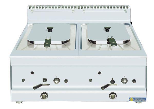 Εικόνα της Φριτέζα Αερίου Επιτραπέζια διπλή 10+10 lt, GF20 SER GAS