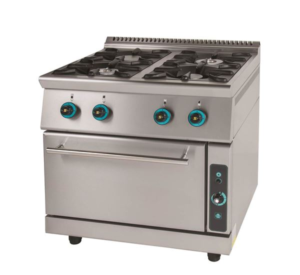 Εικόνα της Κουζίνα Αερίου με 4 εστίες και φούρνο αερίου, σειρά 750, FC4FS7 SER GAS